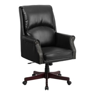 Purchase Ohlman High-Back Leather Executive Chair by Red Barrel Studio