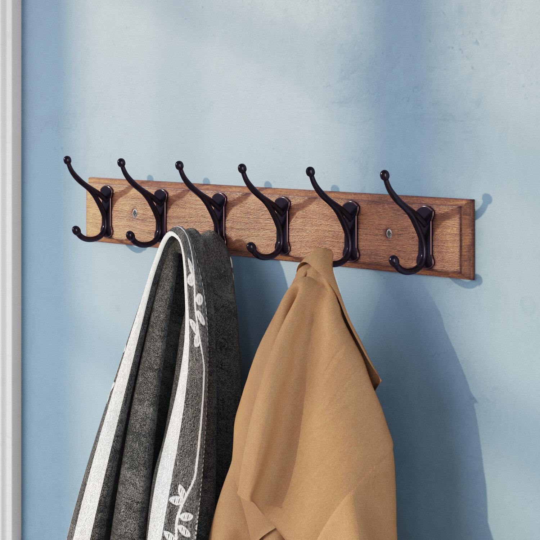 Three Posts Andrew Rail Wall Mounted Coat Rack & Reviews | Wayfair