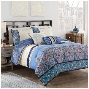 Malia 5 Piece Reversible Comforter Set