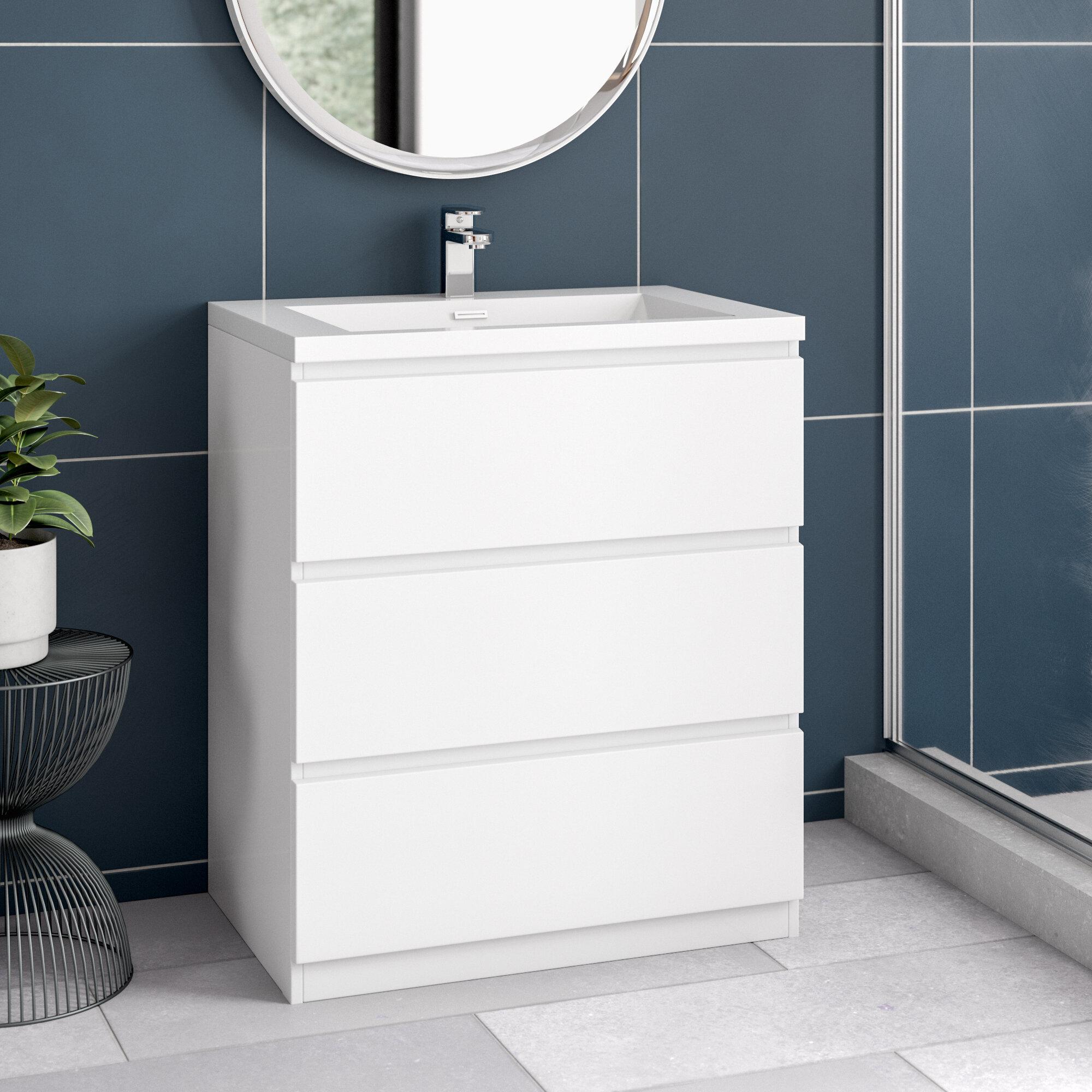 Chantell Free Standing 30 Single Bathroom Vanity Set Reviews Allmodern