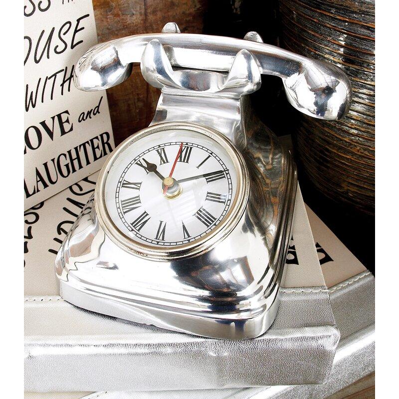 Aluminum Telephone Table Clock