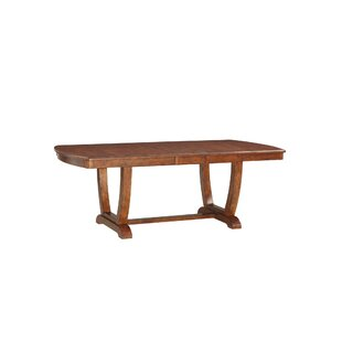 Bracamonte Solid Wood Dining Table Canora Grey