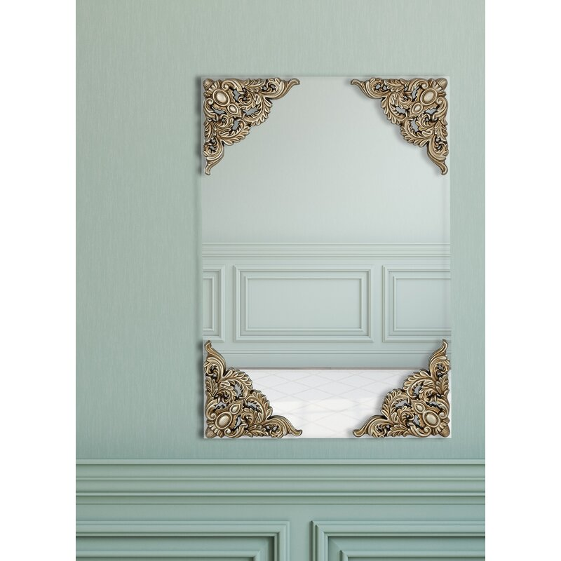 Majestic Mirror Traditional Flat Glass With Decorated Corners Wall ...