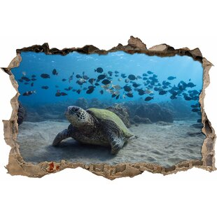 Turtle In Ocean Wall Sticker By East Urban Home