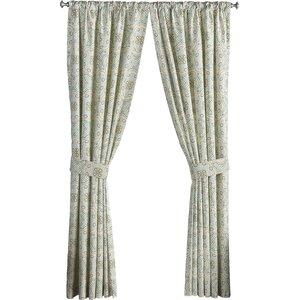 Astrid Damask Room Darkening Rod Pocket Single Curtain Panel
