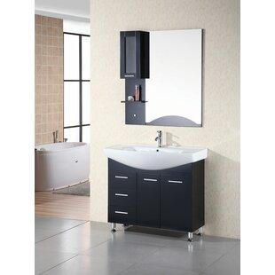 Dublin 40 Single Bathroom Vanity Set with Mirror BydCOR design