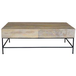 Stefania Coffee Table with Drawers by Union Rustic