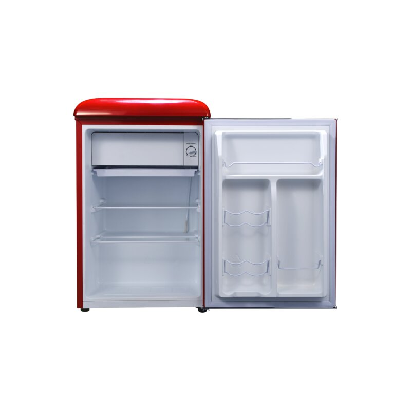 Galanz GLR25MRDR10 Mini Fridge Retro Refrigerator 2.5 Cu Ft Red
