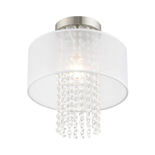 Haney 1-Light Semi Flush Mount by Mercer41