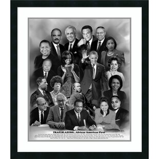 U0027Trailblazers: African American Firstu0027 Framed Memoribilia On Wood
