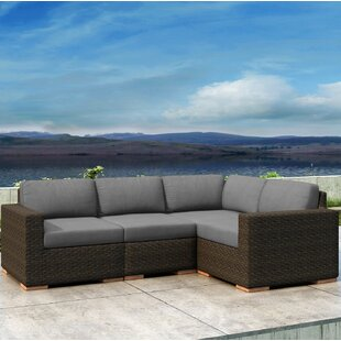 Everly Quinn Glen Ellyn 4 Piece Sectional Set with Sunbrella Cushion