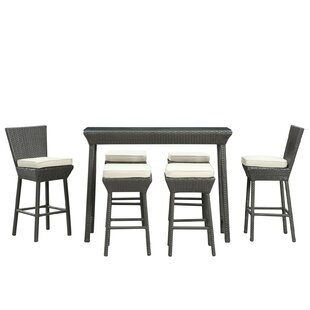 Napa 7 Piece Bar Height Dining Set with Cushions