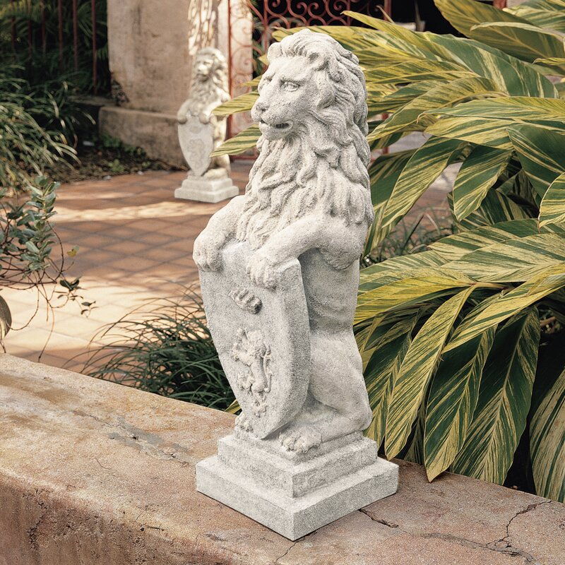 large outdoor lion statues wayfair