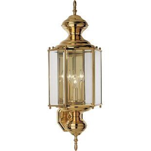Compare prices Triplehorn  3-Light Wall Lantern By Alcott Hill