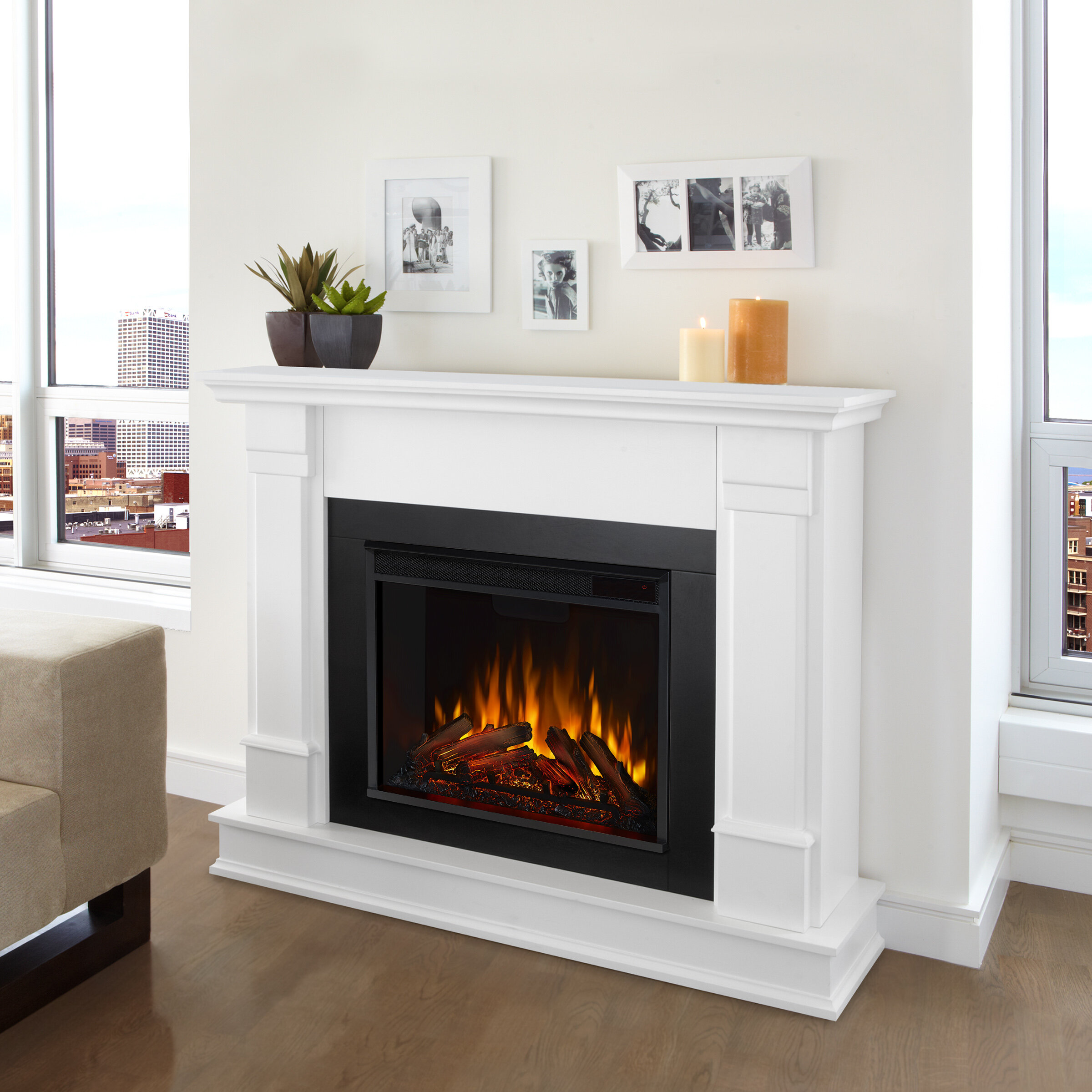 Real Flame Silverton Electric Fireplace Reviews Wayfair