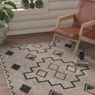 Mathes Gray/Black Area Rug
