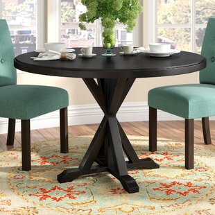 Fanning X Base Solid Wood Dining Table Alcott Hill