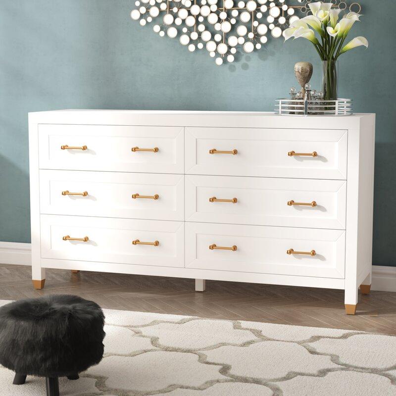 Skelmersdale 6 Drawer Double Dresser
