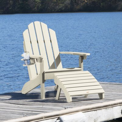 Wondrous Highpoint Plastic Adirondack Chair With Ottoman Alcott Hill Machost Co Dining Chair Design Ideas Machostcouk