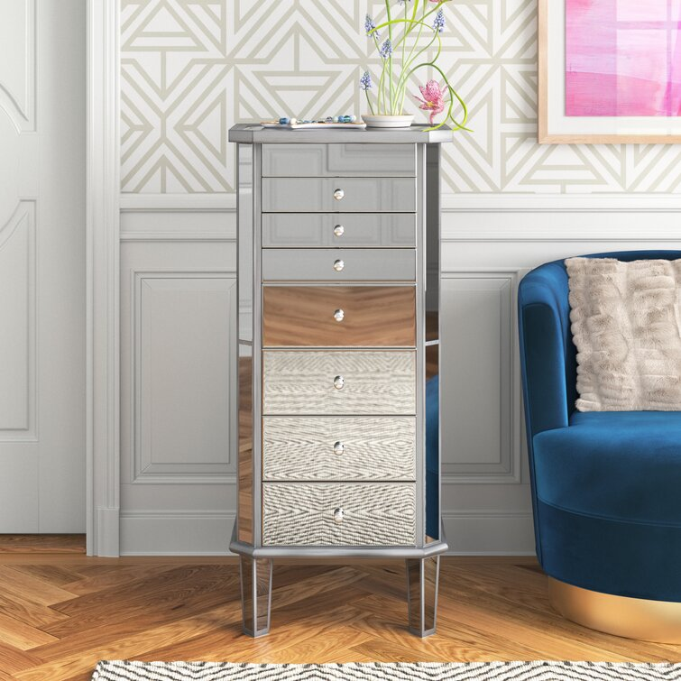 Caila Jewelry Armoire with Mirror