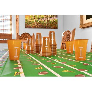 Football Plastic Disposable Cup (Set of 50)