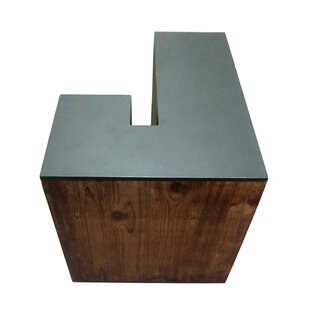 Letter-shaped (J) Wooden Accent Stool