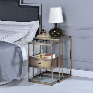Corrigan Studio Easton Stylish 2 Piece Nesting Table Set
