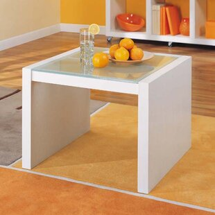 Dawn Coffee Table with Glass Top by Organize It All