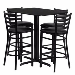 Heming Rectangular Laminate 5 Piece Dining Set Ebern Designs