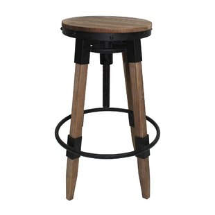 Midhurst Adjustable Height Swivel Bar Stool by Williston Forge