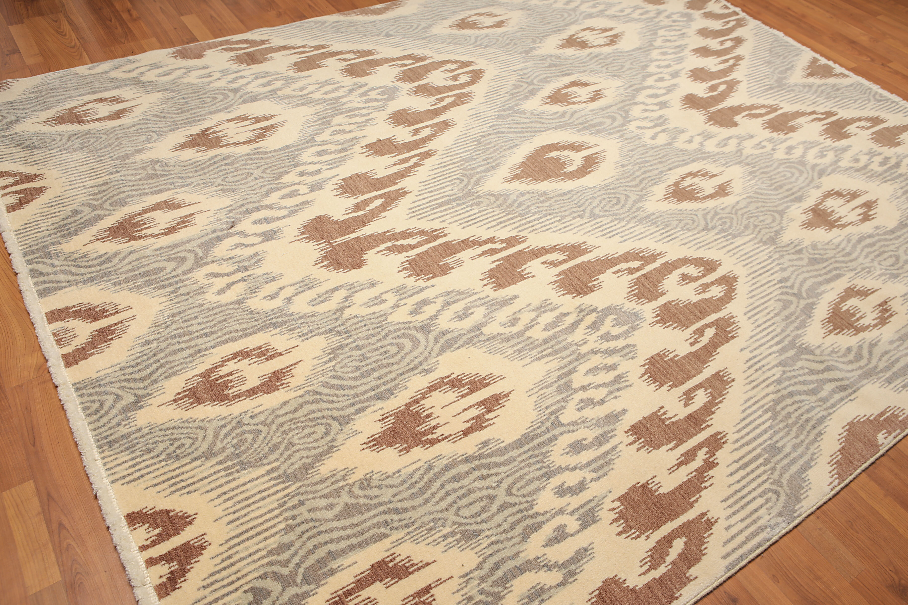 One Of A Kind Highgate Hand Knotted 8 X 10 Wool Beige Area Rug