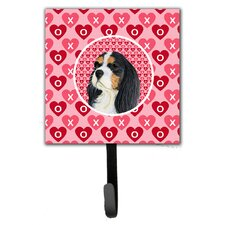 Cavalier Spaniel Valentine's Love and Hearts Leash Holder and Wall Hook by Caroline's Treasures