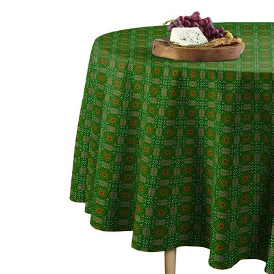The Holiday Aisle Marshall Christmas Kaleidoscope Round Tablecloth The Holiday Aisle Size 96 W X 96 L Dailymail