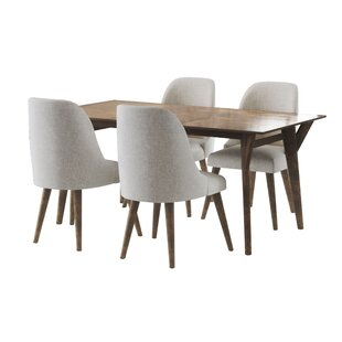 Ames Mid Century 5 Piece Dining Set Union Rustic