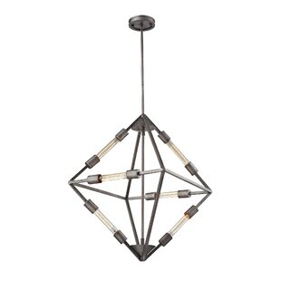Dunleavy 6-Light Geometric Chandelier by Brayden Studio