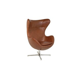 Oak Idea Imports Muna Swivel Lounge Chair
