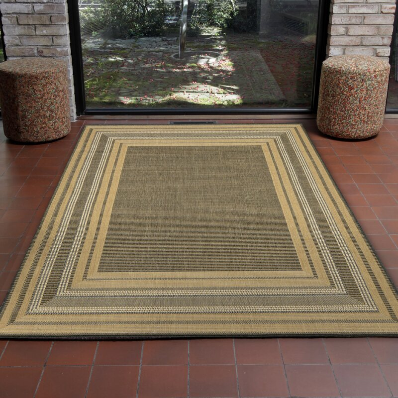 Highland Dunes Clatterbuck Etched Gray Indoor/Outdoor Area Rug ...