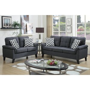 gray leather living room furniture. carli 2 piece living room set gray leather furniture