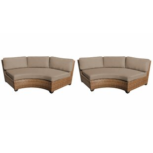 Medina Patio Sofa with Cushions (Set of 2)