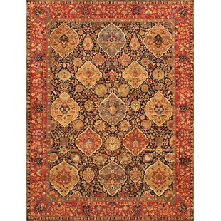 Kermanshah Hand-Knotted Wool Navy/Red Area Rug ByPasargad