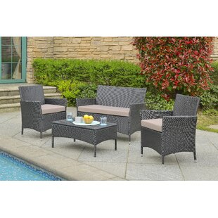 Ninon 4 Piece Sofa Set with Cushions