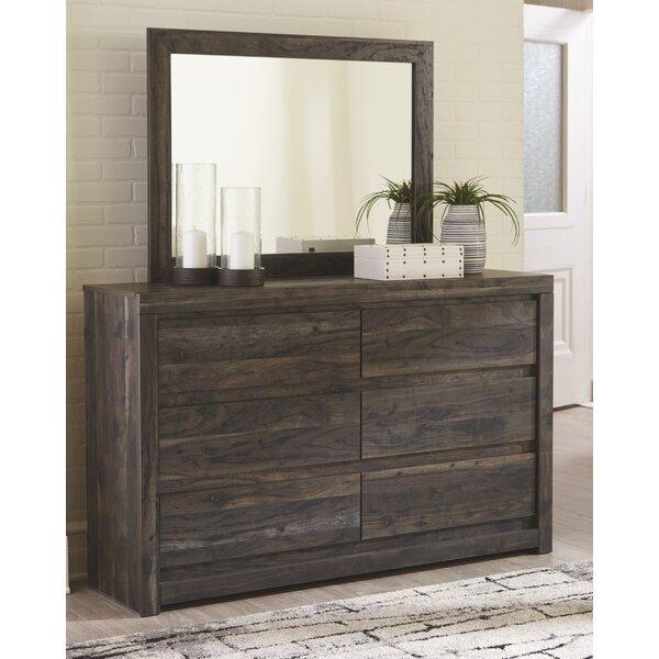 Coastal Farmhouse Shore 6 Drawer Double Dresser With Mirror Reviews Wayfair