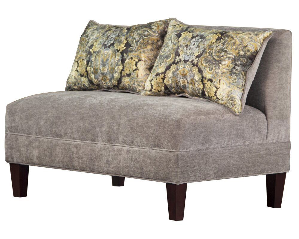 briley tracy porter armless loveseat carolina accents briley tracy porter armless loveseat  u0026 reviews      rh   wayfair