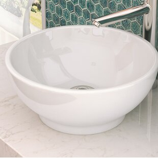 Best Reviews Aila Classically Redefined Ceramic Circular Vessel Bathroom Sink with Overflow By DECOLAV