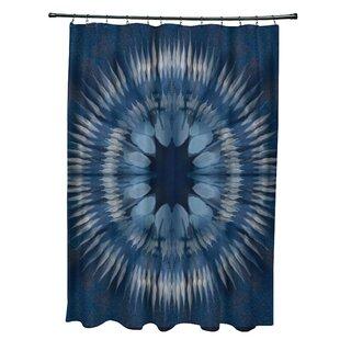 Armstrong Shibori Burst Single Shower Curtain