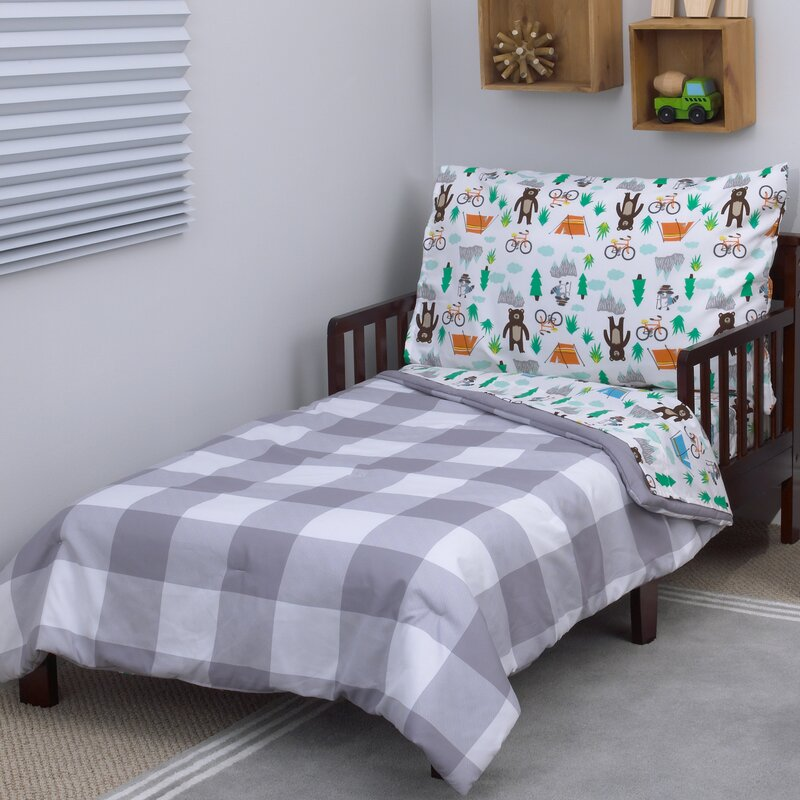 Beau Woodland Boy 4 Piece Toddler Bedding Set
