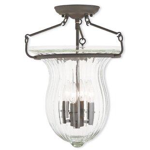 Bachmann 4-Light Semi-Flush Mount by Darby Home Co
