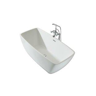 Aurora Platinum 63 x 30 Freestanding Soaking Bathtub