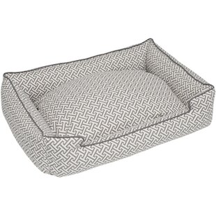 Hagy Everyday Cotton Lounge Bolster Dog Bed