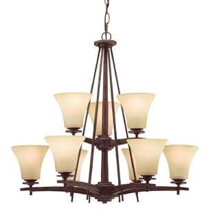Breakwater Bay Marley 9-Light Shaded Chandelier